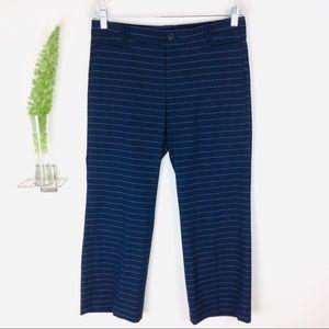 Banana Republic Logan Pretty Striped Crop Pants 6